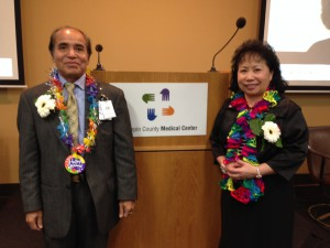 Longtime Guild Interpreters Khamtu Munsisoumang and Yia Vang were honored Jan. 16 by their HCMC co-workers.